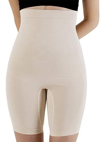 UnsichtBra Bauch Weg Damen Figurformende Miederhose Bodyformer mit Bein stark Figurformende Unterwäsche (sw_0600)(XL (48-54), Beige)