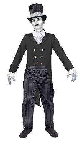I LOVE FANCY DRESS LTD Halloween Leiche BRÄUTIGAM KOSTÜM FÜR MÄNNER - Zweireihige Frack Jacke, Zylinder, Hosen UND Fliege - Horror GRUSELIGES Toten BRÄUTIGAM KOSTÜM FÜR Erwachsene - X-GROẞ