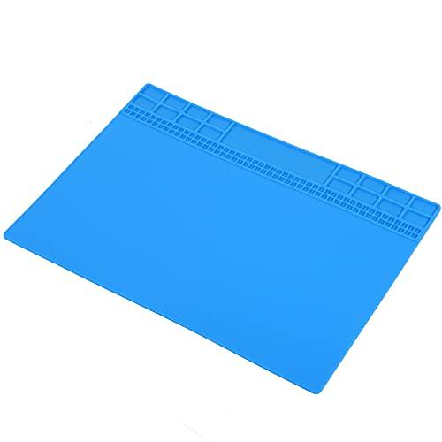 Estera del banco de trabajo, cojín de la reparación del calor de la resistencia para el hogar para la industria(Navy blue)