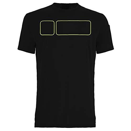 FREDDY T-Shirt M/C Traspirante con Trattamento D.I.W.O - Nero - Large