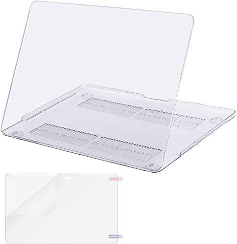 MOSISO Funda Dura Compatible con 2020-2016 MacBook Pro 13 A2338 M1 A2251 A2289 A2159 A1989 A1706 A1708, Ultra Delgado Carcasa Rígida Protector de Plástico & Protector de Pantalla, Cristal