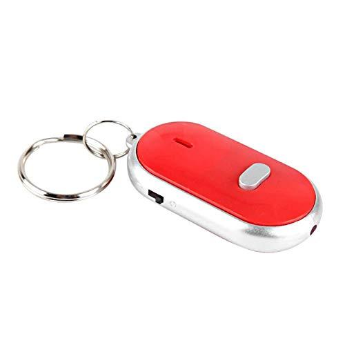 FILFEEL Key Locator Voice Control Anti-Lost Device Wallet Luggage Anti-Lost Tag Alarm Sensor Item Detector(red)