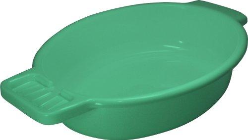 Waschschale aus Kunststoff mit Seifenablage, grün - Waschschüssel