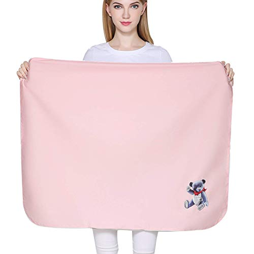 MOZHANG Anti Radiación Embarazo EMF Manta 5G Protección Manta Tela Funda Faraday para Camas, sofás, Embarazo, 95x75cm Protección Tanques de protección, Rosa, m (Color : Medium|Pink)
