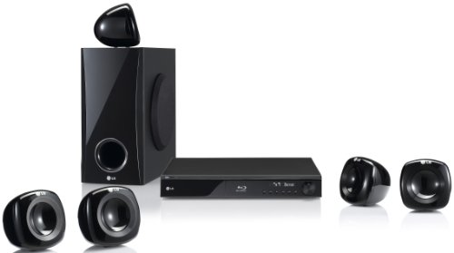 LG HB405SU - Sistema de Home Cinema 5.1 con Blu-ray (HDMI, USB 2.0, compatible con DLNA, 400 W), color negro