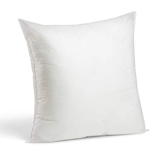 Rellenos cojines sofa hipoalergénicas para funda cojines decoracion y para almohadas de cama 50x50cm (4 unidades)
