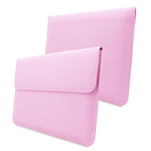 Macbook Pro 15 Case, Snugg - Leather Sleeve with Lifetime Guarantee (Candy Pink) for Apple Macbook Pro 15
