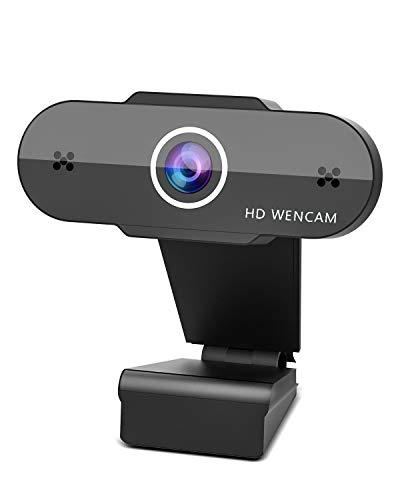 OVIFM Webcam per PC con Microfono, Full HD 1080P Webcam USB per PC Fisso,Laptop y Mac,USB 2.0/3.0 Videocamera per Studio, Videochiamate, Registrazione, Conferenza, Lavoro a Casa e Gioca a Giochi