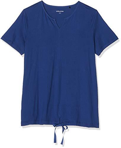Seidensticker Damen Anzug kurz 1694 Zweiteiliger Schlafanzug, Blau (Dunkelblau 803), 44