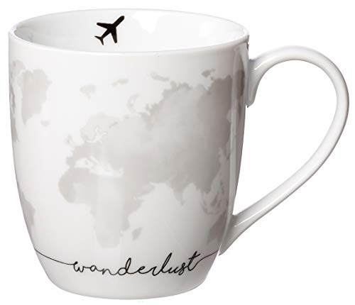 Zauberwerk Kaffeebecher XXL Wanderlust Map, 500 ml