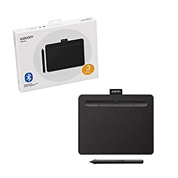 Wacom Intuos Wireless Graphics Drawing Tablet for Mac PC Chromebook & Android  small  with Software Included - Black  CTL4100WLK0