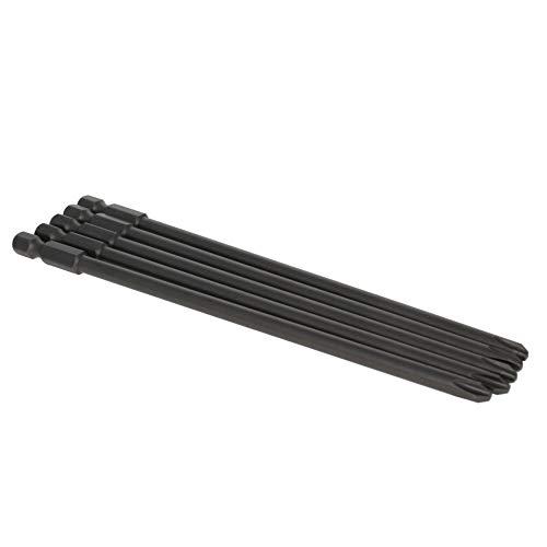 Utoolmart 5pcs 5mm PH2 Magnetic Phillips Screwdriver Bits, 1/4 Inch Hex Shank 150mm Length S2 Power Tool