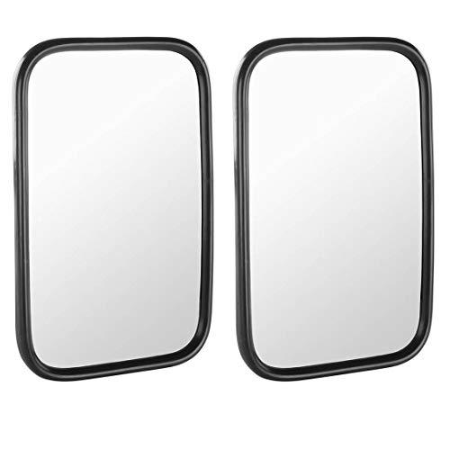 Juego de espejos   izquierda y derecha   270 x 190 mm   Espejo universal también apto para cabina John Deere SG2   Número original: 6275000M   Barra de fijación de 12 mm de diámetro