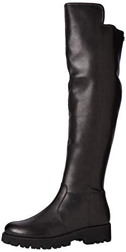Steve Madden Damen Hypp Boot Hohe Stiefel, Schwarz (Black Leather 017), 38 EU