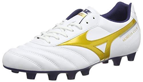 Mizuno Morelia II Club, Scarpe da Calcio Uomo, Bianco (White/Gold 50), 39 EU