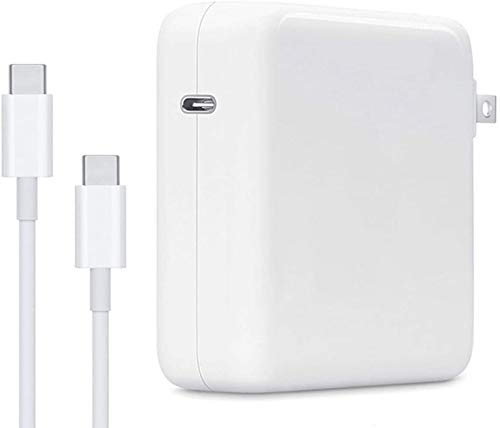 61W Replacement MacBook Pro Charger, USB C Power Adapter Charger for MacBook Pro 12 Inch 13 Inch MacBook Air 13 Inch 2018 and iPad Pro with Foldable Plug