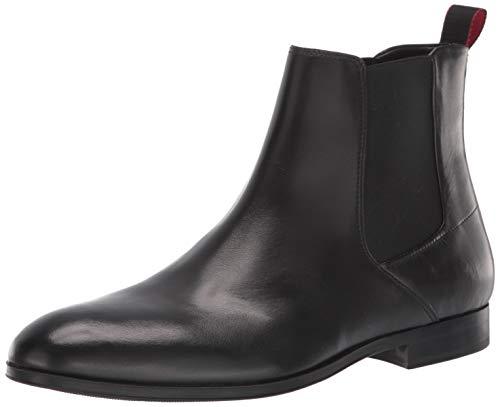 Hugo Boss Herren Boheme Leather Boot Chelsea, Stiefel, schwarz, 37.5 EU