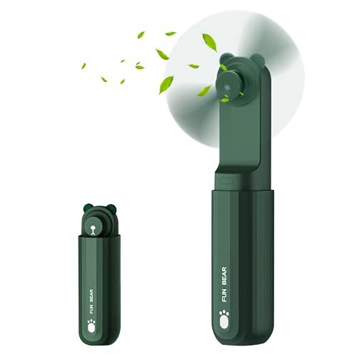 COOLREALL Mini Ventilatore Portatile, Silenzioso Personale Ventilatore, Ventilatore Pieghevole Batteria Ricaricabile Ventilatore USB , 2 Velocità, 10-24 Orario Lavoro, Per Viaggi Casa Esterno Ufficio