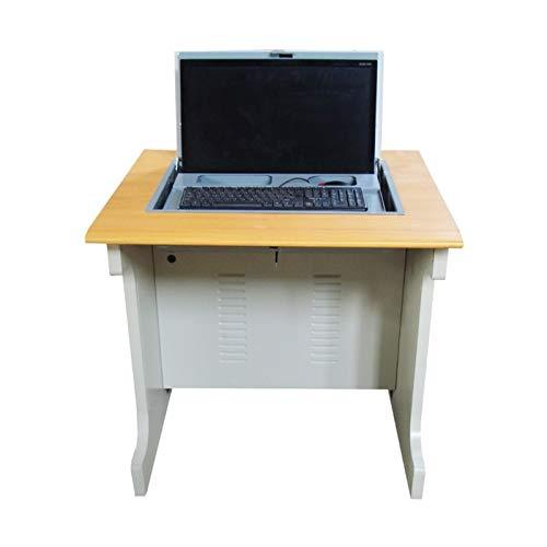 Escritorio Plegable para computadora con Soporte para Monitor y Bandeja para Teclado, Estudio de la Mesa de formación de Escritura para la Sala de reuniones de la Oficina del Aula