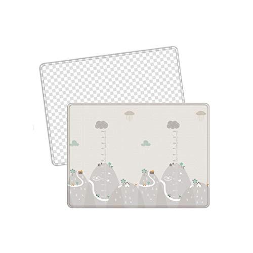 Allowevt Estera de Rompecabezas Protección contra el Frío Lavable Tapete Rug Play Tapete de Juego Antideslizante de Doble Cara para la Sala de Estar del Bebé Infantil Successful