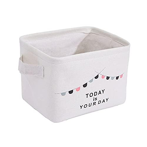 ONETOTOP Lienzo Tela Almacenamiento Cesta Escritorio niño Juguetes soldies Caja de Almacenamiento Ropa Interior Calcetines Organizador Maquillaje Bolsa contenedor lavandería Cesta