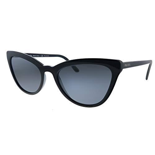 Prada Damen 0PR 01VS Sonnenbrille, Black/Grey, 56