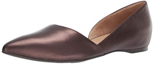 Naturalizer Women's Samantha Pump Ballet Flat, Mocha pearl leather,7.5 M US