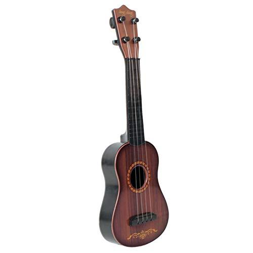 16inch Mini Imitation Holz Korn Gitarre Ukulele pädagogische serpädagogische Musikinstrumente Spielzeug mit Stahl Draht Saiten für Kinder Kinder Jungen Mädchen