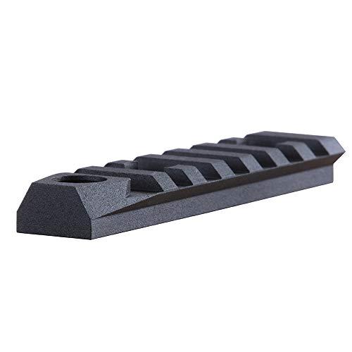 "TuFok M-lok Picatinny Rail Aluminum - M lok Picatinny Rail Section, Rifle Rail Mount Adapter with 3/8"" QD Sling Swivel Socket(for Two Point Sling)(7-Slot,Black)"