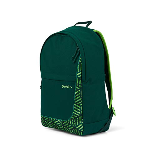 satch Fly, Rucksack für die Freizeit, Rückenpolster, großes Hauptfach - Get Lost, Grün