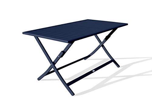 DCB GARDEN Marius Table de Jardin, Bleu Nuit
