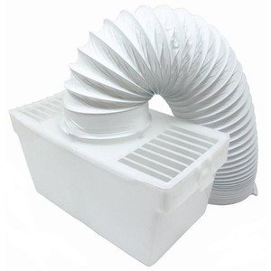 """LAZER ELECTRICS Universal Condenser Vent Box & Hose Kit for all Vented Tumble Dryers 4"""" 100mm"""