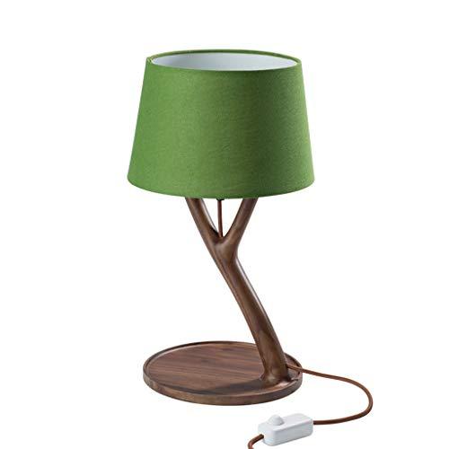 Lampara Mesilla Lámpara de mesa de madera minimalista moderna, lámpara de mesa de madera decorativa nórdica, lámpara de decoración de dormitorio natural simple Lámpara de Mesa ( Color : J )