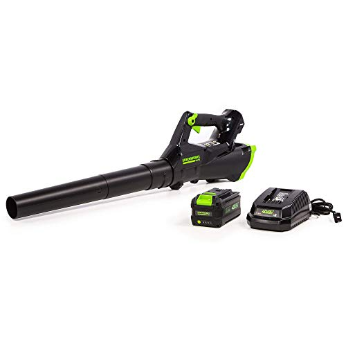 Greenworks 40V Cordless Axial Leaf Blower, 390 CFM / 110 MPH, LB-390 (Renewed)