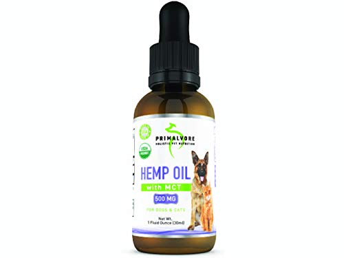 Organic Hemp Oil Dogs Cats: Best for Calming Dog Anxiety - Mobility & Arthritis Relief for Hip and Joint Pain, Pet Hemp Oil for Allergies, Seizures - Liquid Drops Health Aid Supplement for Calm Pets