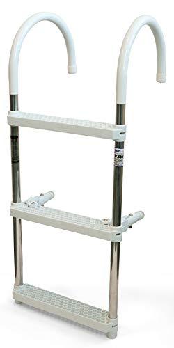 DotLine 3 Step Gunwale Hook Aluminum Boat Ladder