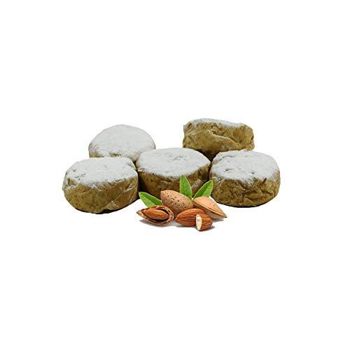 Mandel Polvorones - Schachtel mit 500 g - Hergestellt in Medina Sidonia - Nichte von Las Trejas (1 Schachtel)