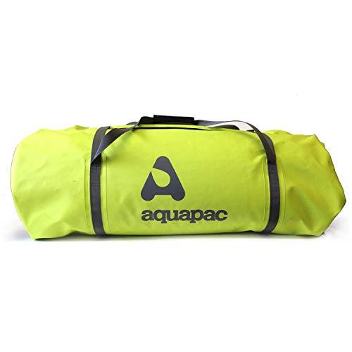AQUAPAC, Trail-Proof Duffel, unisex, waterdichte reis- en sporttas voor volwassenen, kleur Acid Green/Cool Grey, afmetingen 91,0 x 35,0 x 35,0 cm, 90 liter