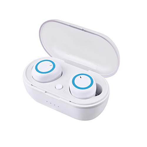 Wireless Bluetooth Earbuds für Unisex/Skxinn 5.0 Sport Bluetooth Kopfhörer Kabellose Ohrhörer, HD Stereo,Bluetooth Kopfhörer für Jogging,Geräuschunterdrückung,Ausverkauf(Weiß,One size)