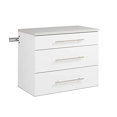 Prepac 3-Drawer Base HangUps Storage Cabinet, White