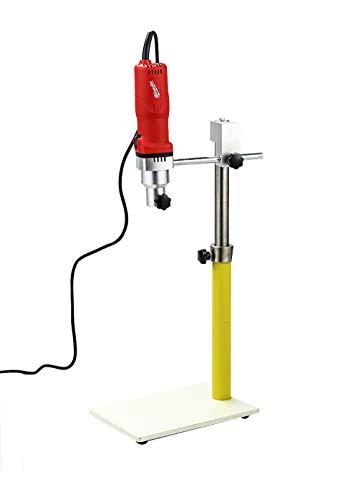 Huanyu Lab Emulgiermaschine High Shear Mixer Nanoscale Mixing Emulgation Ausgestattet mit einem Kopf für homogenes Mahlen, Dispersed Mixing Emulgieren Rühren 8000-28000 U/min, ZD25 (100-5000 ml), 1