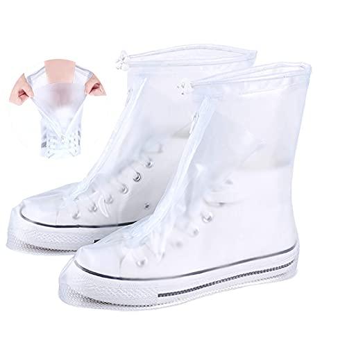 TFSYLISA Cubierta del Zapato Funda de Zapato Reutilizable & Impermeable y Diseño de Cremallera Cubrecalzados Impermeables para Días de Lluvia y Nieve XL