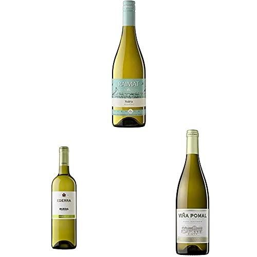 Raimat Saira Albariño - Vino blanco + Ederra Verdejo – Vino blanco DO Rueda + Viña Pomal Blanco - Vino Rioja - 3x75cl