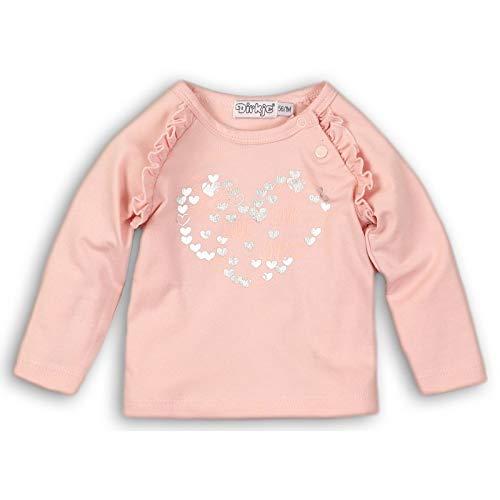 DIRKJE T-Shirt bébé Motif argenté Love - Rose - 36 Mois