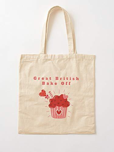 Gbbo Off Hollywood British Mary Berry Great Bake Paul Baking The   Einkaufstaschen aus Segeltuch mit Griffen, Einkaufstaschen aus robuster Baumwolle