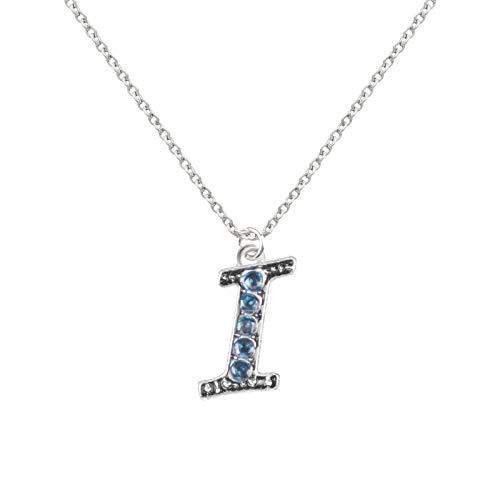 Danbai Color Diamond Necklace With 29 Letters Ladies Unique Style Necklet Simple And Generous Charm Chain Set For Woman Blue