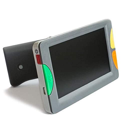 CARACHOME Lupa Digital portátil de 4.3 Pulgadas, Lupa Digital de Mano para Baja visión 2X-32X Veces Zoom Ayuda de Lectura electrónica para Personas Mayores con discapacidad Visual para Leer