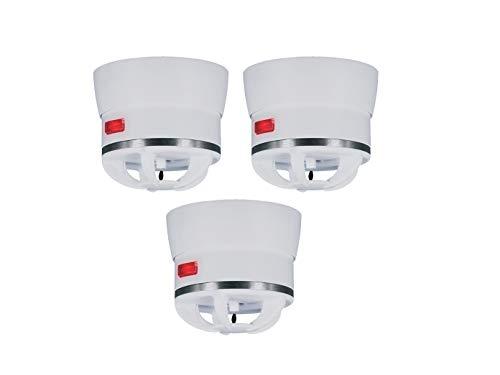 3er Set Extra kleiner Mini Hitzemelder CAVIUS, 85dB-Signal, optimal für Küche oder Badezimmer, 3002-003-3