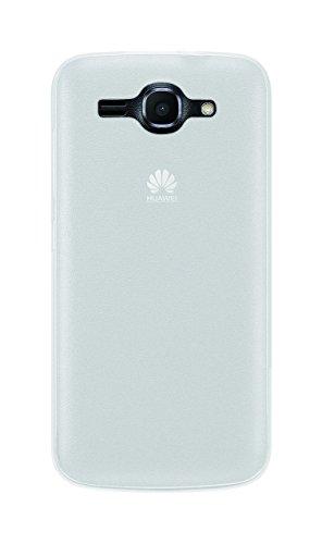 Phonix Gel Protection Plus Etui mit Bildschirmschutzfolie für Huawei Ascend Y540 durchsichtiges weiß
