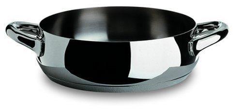Alessi Mami Flache Kasserolle, Edelstahl, Silber, 24 cm